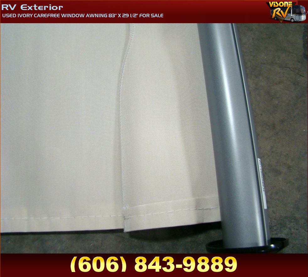 "RV Accessories USED IVORY CAREFREE WINDOW AWNING 83"" X 29 ..."