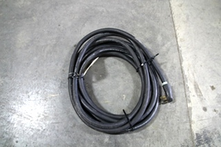 USED RV/MOTORHOME 40 FT. BLACK POWER CORD WITH MALE END ONLY