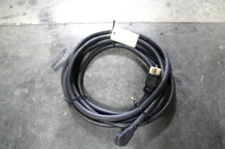 USED RV/MOTORHOME 40 FT. BLACK POWER CORD WITH MALE & TWIST LOCK END