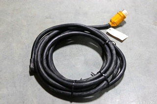 USED RV/MOTORHOME 40 FT. BLACK POWER CORD WITH TWIST LOCK END