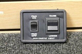 USED RV FANTASTIC VENT CONTROLLER - BLACK