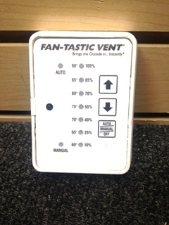 USED RV/MOTORHOME WHITE FANTASTIC VENT CONTROLLER PN: MC411D