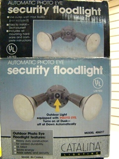 NEW RV/MOTORHOME CATALINA  SECURTIY FLOODLIGHT