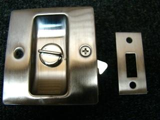 NEW RV/MOTORHOME STAINLESS PRIVACY POCKET DOOR LOCK 2 3/4 X 2 1/2 X 1 3/8