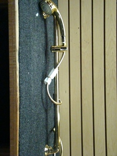 NEW RV/MOTORHOME MOEN POLISHED BRASS THREE FUNCTION HAND HELD & SLIDE BAR SET PRICE: $165.00 + $24.00 SHIPPING