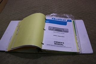 USED MONACO OWNERS MANUAL BINDER FOR SALE