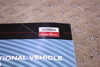 USED RECREATIONAL VEHICLE CHASSIS OPERATORS MANUAL FOR SALE