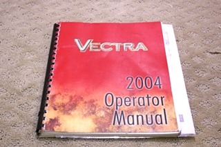 USED 2004 WINNEBAGO VECTRA OPERATORS MANUAL FOR SALE