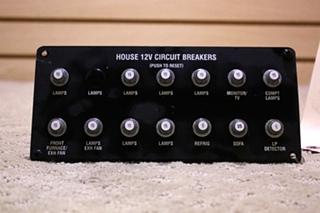 USED RV/MOTORHOME HOUSE 12V CIRCUIT BREAKER FOR SALE