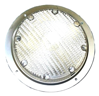 NEW RV/MOTORHOME  ARCON 20671 BRIGHT WHITE 12V SCARE LIGHT WITH CLEAR LENS