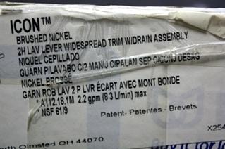 RV/MOTORHOME MOEN ICON BRUSHED NICKEL 2 HANDLE LAVATORY LEVER WIDESPEAD TRIM FAUCET