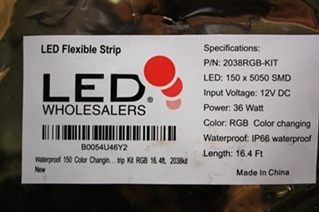 NEW LED FLEXIBLE STRIP 2038RGB-KIT FOR SALE