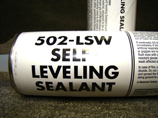 NEW RV/MOTORHOME SELF-LEVELING SEALANT (WHITE) 10.3 OZ TUBES