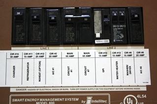 USED INTELLITEC 50 AMP SERVICE MAIN & SUB PANEL MODEL 800 FOR SALE