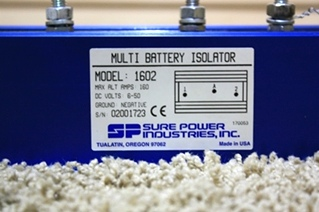USED SURE POWER MULTI BATTERY ISOLATOR 1602 FOR SALE