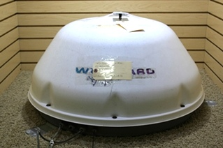 USED RV SATELLITE SYSTEM WINEGARD MOVIN VIEW IN MOTION SATELLITE DOME WITH CONTROL MV3500T FOR SALE