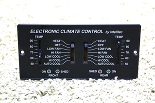 USED ELECTRONIC CLIMATE CONTROL BY INTELLITEC 00-00597-000 RV PARTS FOR SALE