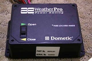 USED RV DOMETIC AE WEATHER PRO POWER AWNING CONTROL SWITCH FOR SALE