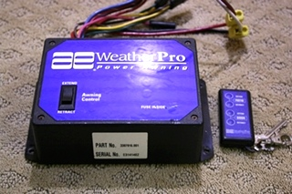 USED RV PARTS WEATHER PRO POWER AWNING WITH REMOTE FOR SALE