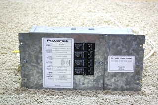 USED MOTORHOME POWERTEK 12 VOLT FUSE PANEL RV PARTS FOR SALE