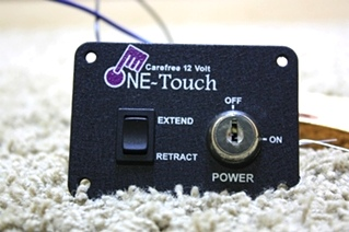USED RV ONE TOUCH CAREFREE 12 V CONTROL PANEL FOR SALE