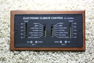 USED RV ELECTRONIC CLIMATE CONTROL BY INTELLITEC FOR SALE
