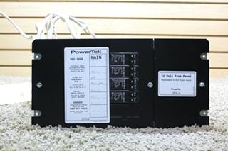 USED MOTORHOME POWERTEK 12 VOLT FUSE PANEL PDC-3009 RV PARTS FOR SALE