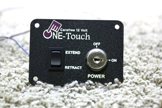 USED RV CAREFREE 12 VOLT ONE-TOUCH AWNING CONTROL SWITCH FOR SALE