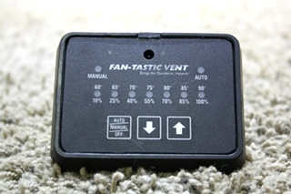 USED MOTORHOME FAN-TASTIC VENT TOUCH PAD FOR SALE