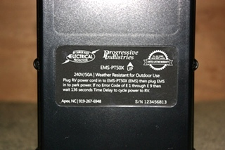 PROGRESSIVE INDUSTRIES EMS-PT50X PORTABLE EMS WITH SURGE PROTECTION FOR SALE