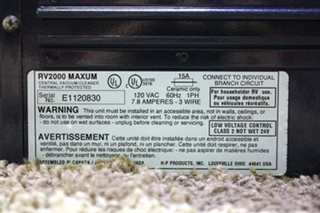 USED MAXUM RV2000 CENTRAL CLEANING SYSTEM FOR RV'S FOR SALE