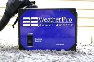 USED MOTORHOME AE WEATHERPRO POWER AWNING CONTROL BOX 3307916.001