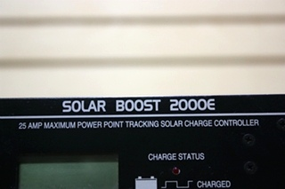 USED RV POWER PRODUCTS SOLAR BOOST 2000E MOTORHOME PARTS FOR SALE