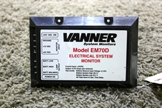 USED EM70D VANNER ELECTRICAL SYSTEM MONITOR MOTORHOME PARTS FOR SALE