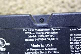 USED MOTORHOME EMS-HW50C ELECTRICAL MANAGEMENT SYSTEM W/ SMART SURGE PROTECTION FOR SALE