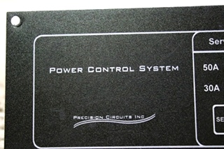 USED RV PRECISION CIRCUITS POWER CONTROL SYSTEM PANEL FOR SALE