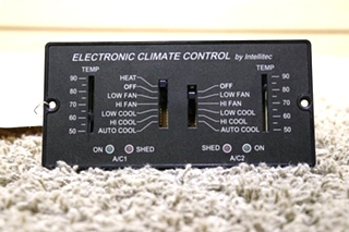 USED 00-00597-100 RV ELECTRONIC CLIMATE CONTROL BY INTELLITEC FOR SALE