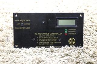 USED RV-30D CHARGE CONTROLLER PANEL MOTORHOME PARTS FOR SALE