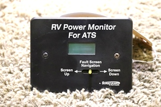 USED MOTORHOME RV POWER MONITOR FOR ATS BY SURGE GUARD RV PARTS FOR SALE