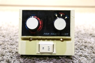 USED MOTORHOME FAN-TASTIC VENT SWITCH PANEL RV PARTS FOR SALE