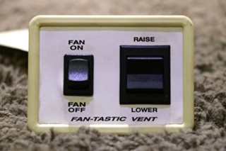 USED RV FANTASTIC-VENT SWITCH PANEL MOTORHOME PARTS FOR SALE