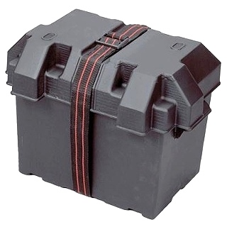 RV BATTERY BOX A/T GRP 24, BLACK