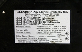 USED RV GLENDINNING CABLEMASTER CORD REEL MODEL: 204-1023