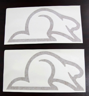 New Rv Motorhome Camper Gold Beaver Sticker Set Of 2