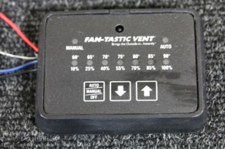 USED RV/MOTORHOME/CAMPER KIB FANTASTIC VENT CONTROLLER BLACK PN: MC411D **SOLD OUT**