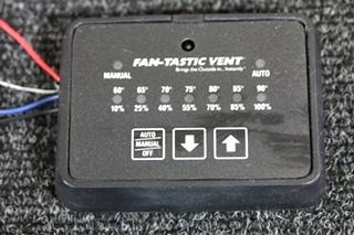 USED RV/MOTORHOME/CAMPER KIB FANTASTIC VENT CONTROLLER BLACK PN: MC411D *OUT OF STOCK*